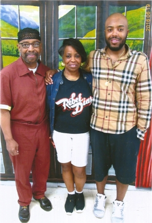 Maroon with Teresa and Grandson, Hakim