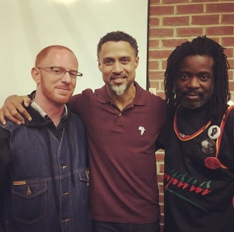 Raphael Cohen, Mahmoud Abdul-Rauf, Russell Shoatz III, Laney College, Oakland, California, October, 2016, Black Panther Party 50th Anniversary